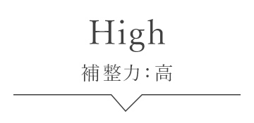 補整力:高